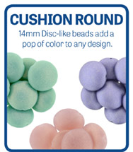 Cushion Round 14mm Pop Beads